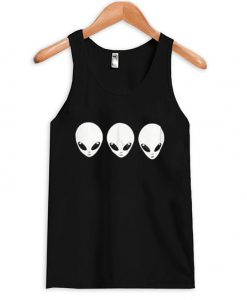 Alien wide v neck blackTankTop