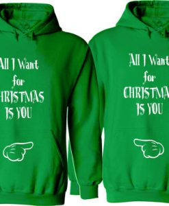 All I Want for Christmas Is You Couple Hoodie