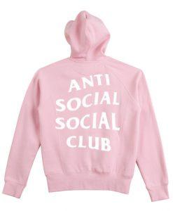 Anti Social Social Club Pink Hoodie Back