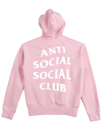 Anti Social Social Club Pink Hoodie Back