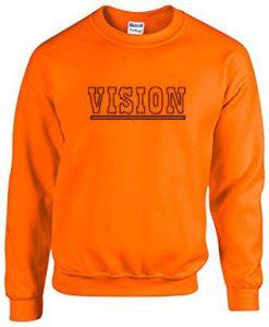 Vision Orange Color Sweatshirt