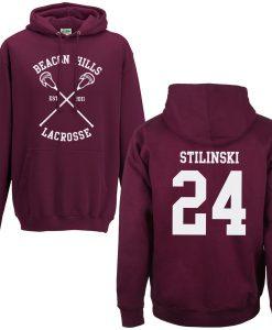 Beacon Hills Lacrosse Hoodie Back Print Stilinski
