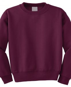 Blank Burgundy Sweatshirt