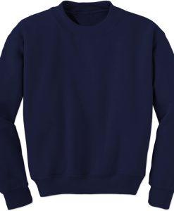 Blank Navy Blue Sweatshirt