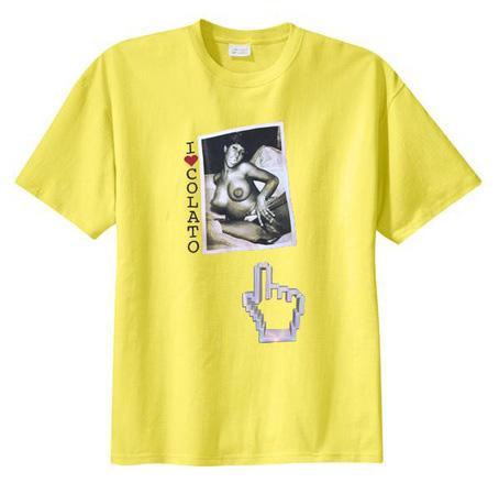 I Love Colato Yellow T shirt