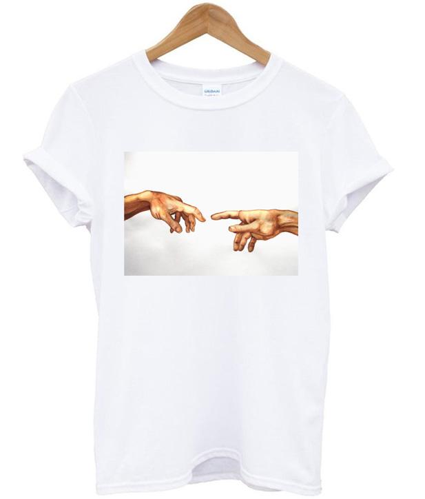 2d38f6e1 Michelangelo Sistine Chapel Hands T Shirt