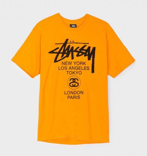 Stussy New York Los Angeles Tokyo T Shirt