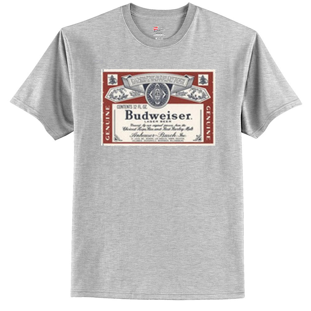 Budweiser distressed label t shirt for Custom t shirts distressed