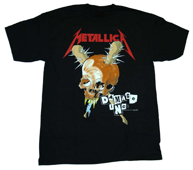 Metallica the first four albums t shirt for Best custom t shirts reddit