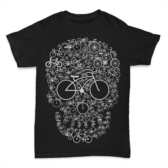 Bicycle Skull Buy T Shirt