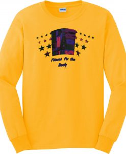 Yellow Fitness For The Body Vintage Sweatshirt