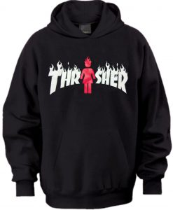 Thrasher X Girl On Fire Hoodie
