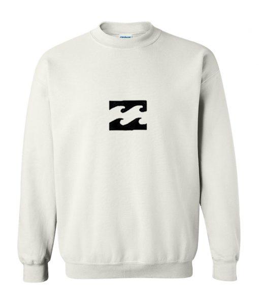 Horizontal White Fire Sweatshirt