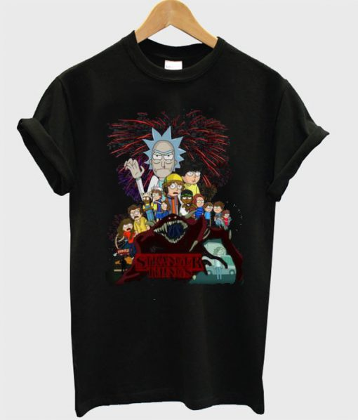 Nice Rick and Morty version Stranger Things T shirt
