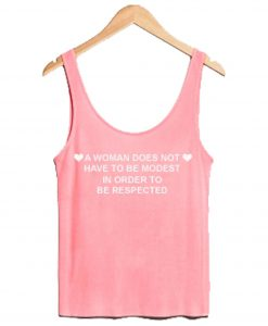 A Woman Quote Pink Tanktop