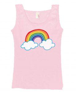 Cloud Rainbow Pink Tanktop