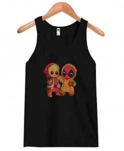 Deadpool And Baby Groot Tanktop