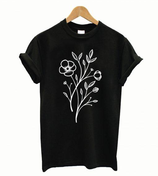 Wildflower Stippled Tattoo T-Shirt