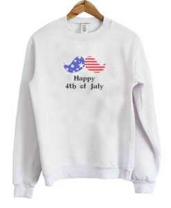Youth Happy 4th Of July Mustache Sweatshirt