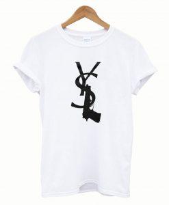Yves Saint Laurent White Gun T-Shirt