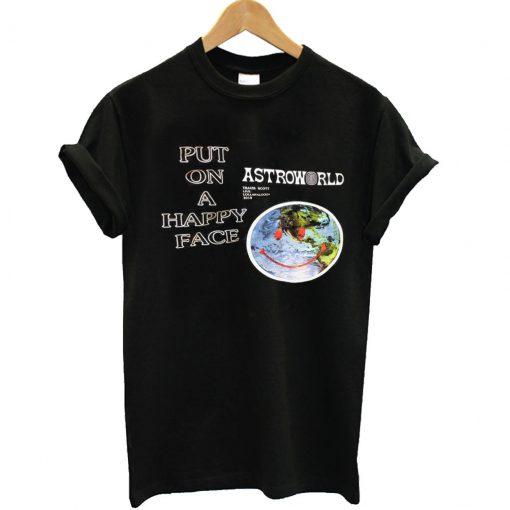 Travis Scott Astroworld Put On Happy Face T-Shirt