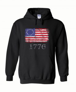 Betsy Ross Shirt 4th Of July American Flag Hoodie 1776