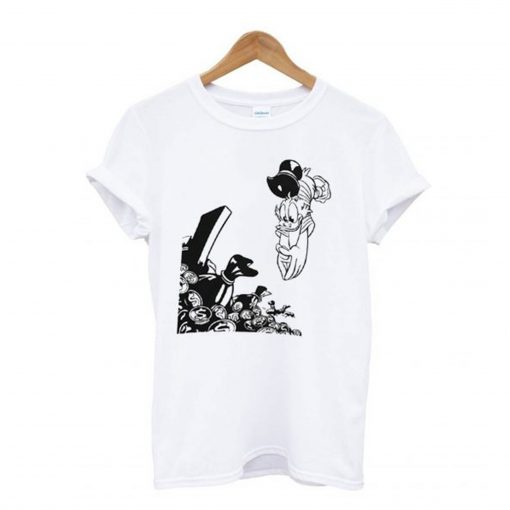 Scrooge McDuck Diving Into Gold T Shirt